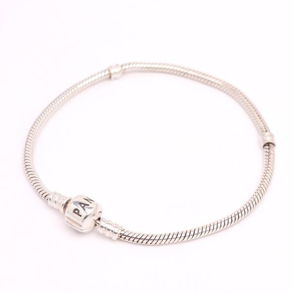 PANDORA SterlingSilver Barrel Clasp Charm Bracelet